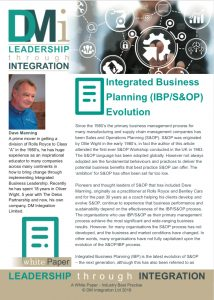 DMi Integrated Business Planning Evolution