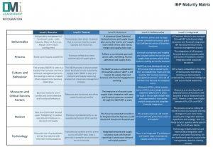 DMi's IBP Maturity Matrix